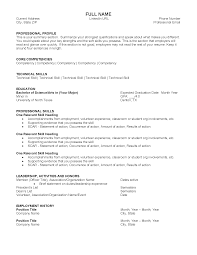 resume temolates resume samples division of student affairs