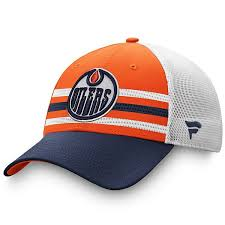 Free shipping on orders over $25 shipped by amazon. Men S Fanatics Branded Orange Navy Edmonton Oilers 2020 Nhl Draft Authentic Pro Structured Adjustable Trucker Hat