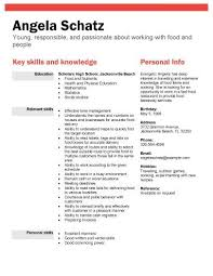 High School Student Resume Samples With No Work Experience First Cv No Work  Experience