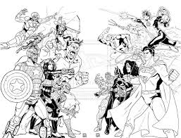 Small Picture AVENGERS VS JUSTICE LEAGUE by mannymederosdeviantartcom on