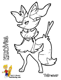 Small Picture Pokemon Coloring Pages Delphox olegandreevme