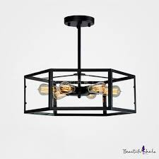 industrial style 6 light led close to ceiling light with glass shade beautifulhalo com