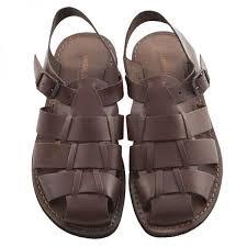 strappy sandals in brown sandali microporoso chiuso uomo retro marrone 2