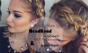 Tuto Coiffure Headband Tresse Ootd Cocooning Sophistiqu