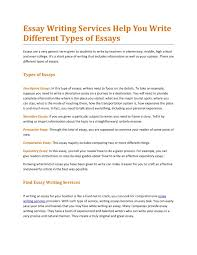 essay writing services help you write