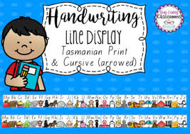 Fonts Posters Handwriting Line Posters Tasmanian Fonts By Stay Classy Classrooms