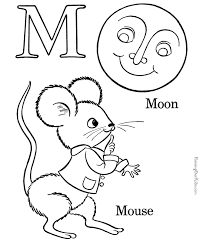 Small Picture Alphabet coloring sheets Letter M 017