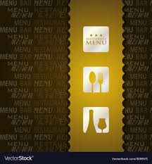 Menu Presentation Design Restaurant Menu Presentation In Brown Background