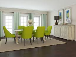 Lime Green Living Room Chairs Dining Room Modern Metal Chair With White Leather Cushion Also