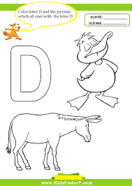 Small Picture Kids Under 7 Letter D Worksheets and Coloring Pages