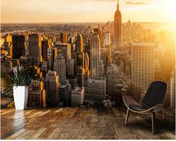 Custom Zwart Wit Retro Behang Sunrise New York Behang Voor Muren 3d