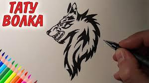 как нарисовать татуировку волка рисунки для начинающих и детей Drawings
