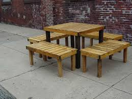 pallet outside furniture. Wood Pallet Patio Furniture Designs Wooden Fence Ideas Outside