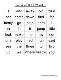 Dolch Sight Words Dolch Primer Sight Words Pdf Pointeuniform Club