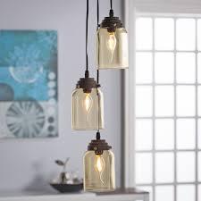 Harper Blvd Lighting Harper Blvd Ticino Colored Glass Triple Pendant Lamp Amber