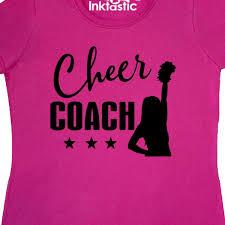 inktastic cheer coach sports gift women s t shirt cheerleading cheerleader idea