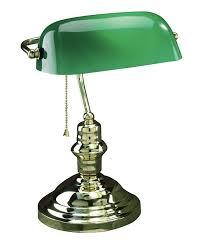 com lite source ls 224ab banker 14 1 2 inch 60 watt banker s lamp with green glass shade antique brass home improvement