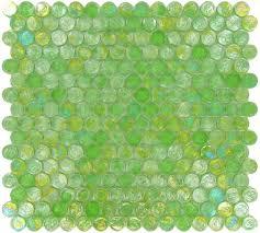 Circle Tiles Circles Green Glass Penny Circle Tile Glossy Iridescent Imc20 03