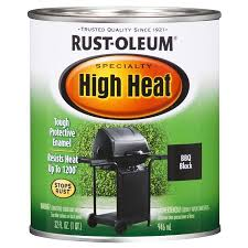 rust oleum specialty high heat black flat flat oil based enamel interior