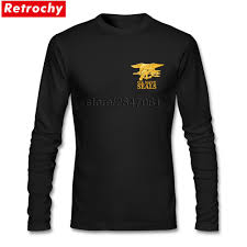 Long Sleeve Designer Shirts Us 15 6 48 Off Drop Ship Men Vintage Usa Army Navy Seals T Shirt O Neck Long Sleeve Designer Tees Young Guy Large And Tall Size In T Shirts From