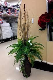 Big Flower Vase Design Greens In A Tall Vase In 2020 Tall Floral Arrangements