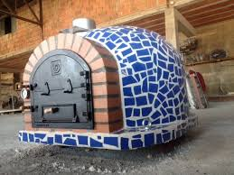 wood burning pizza oven doors wood burning pizza oven with cast iron door tile mosaic