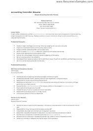Controller Resume Example – Banri