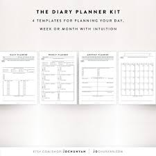 Daily Journal Planner Daily Planner Kit Daily Planner Sheet Weekly Planner Daily Journal Journal Template Productivity Template To Do List Diary Template