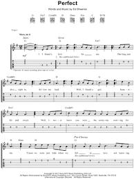 Home » music lessons » sheet music » guitar sheet music for beginners. Ed Sheeran Perfect Guitar Tab In G Major Download Print Sku Mn0182521