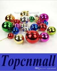 Large Plastic Christmas Bell Decorations Awesome 32cm Large Shiny Multi Color Christmas Bell Balls Plastic Tree