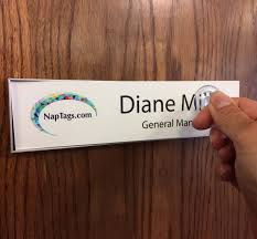 magnetic name plate holder frame for office doors and walls napnameplates com