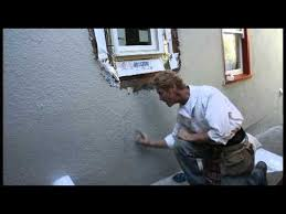 break out stucco then repair a newly installed window timelapse