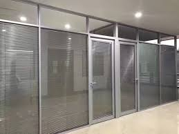 Modern office partitions Office Table Customized Double Glass Louver Modern Office Partition With Sunshade Control Sunshine Partitions Slideshare Customized Double Glass Louver Modern Office Partition With Sunshade