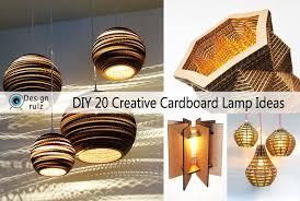corrugated cardboard pendant light shade