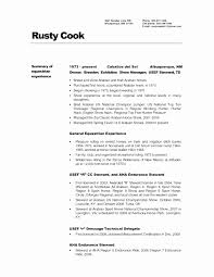Cook Resume Examples Amazing Sample Resume For Chef Job Unique Example Chef Resume Chef Resume