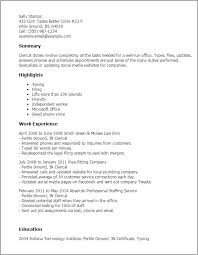 Clerical Resume Templates