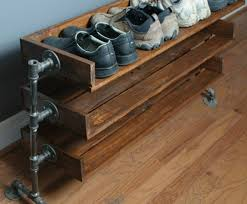 industrial wood furniture. Industrial Design Furniture Shoe Rack Itself Building Pipes Wood