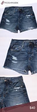 American Eagle Outfitters Distressed Denim Shorts American