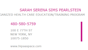 1891180469 NPI Number | SARAH SERENA SIMS PEARLSTEIN | SAN FRANCISCO, CA |  NPI Registry | Medical Coding Library | www.HIPAASpace.com © 2021