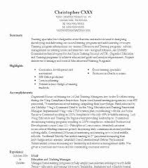 Training Resume Examples Letsdeliver Co