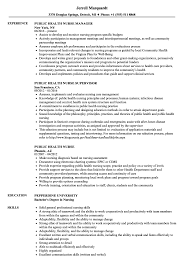 Public Health Resume Sample Public Health Nurse Resume Samples Velvet Jobs 5