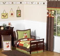 woodland forest animals toddler bedding 5pc boy bedding set by sweet jojo designs