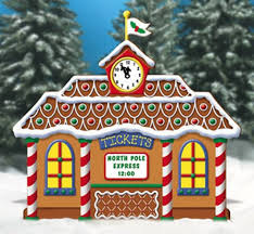christmas gingerbread train station yard decoration