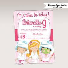 Spa Party Birthday Party Printable Invitation Girls Spa Day Birthday Printable Invitation