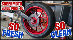 supermoto wheels on a dirt bike supermoto build part 10 youtube