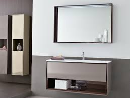 Bathroom Cabinets Steel Single Door Bathroom Mirror Wall Storage