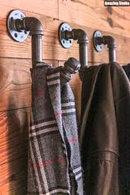 Diy Industrial Coat Rack Simple DIY Industrial Pipe Coat Hook YouTube
