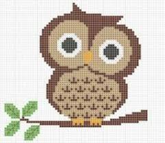 Easy Cross Stitch Patterns Interesting Cute Owl Easy Cross Stitch Pattern Crochet Pixelated Ideas