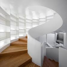 ... Exciting Spiral Staircase Decoration : Modern Spiral Staircase In White  Room Interior Decorating Design Ideas With ...