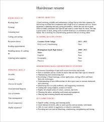 hairdresser resume template download